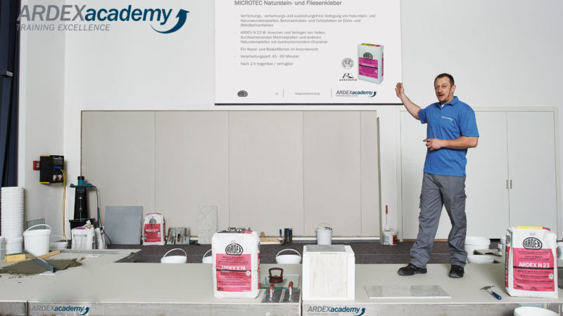 Fit für die Praxis: Mit den Seminaren der ARDEXacademy erweitern Handwerker ihr Know-how