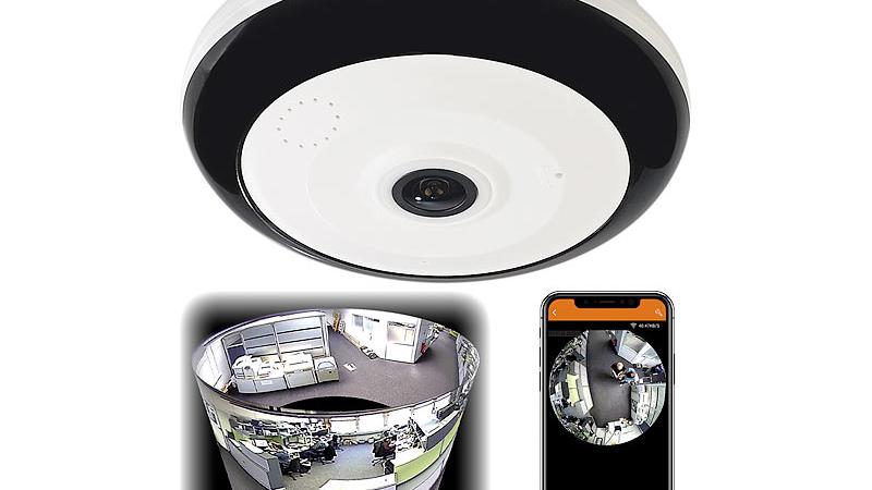 7links 360°-Panorama-Überwachungskamera mit 3,7 MP