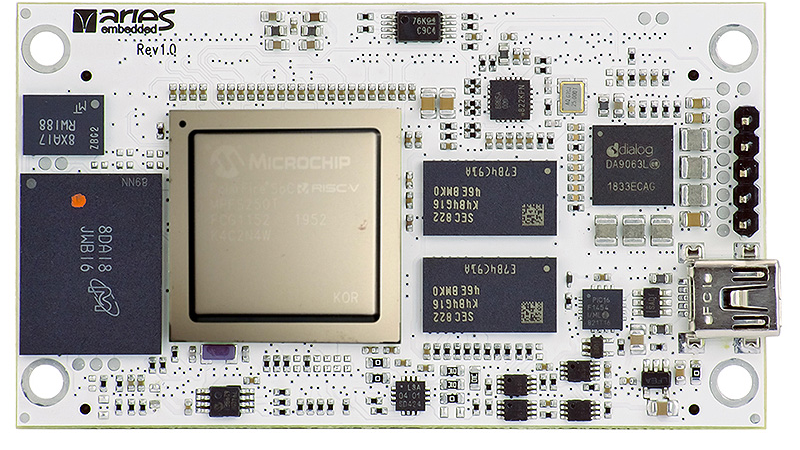 "New System-on-Module M100PFS Based on Microchip""s low-power PolarFire SoC FPGA"