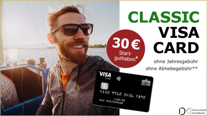 Visa Deutschland-Kreditkarte | 30 Euro Startguthaben