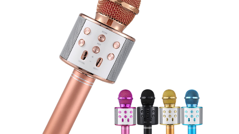 "Neu im Programm bei MrDISC: Karaoke Mikrofon ""Rave"""