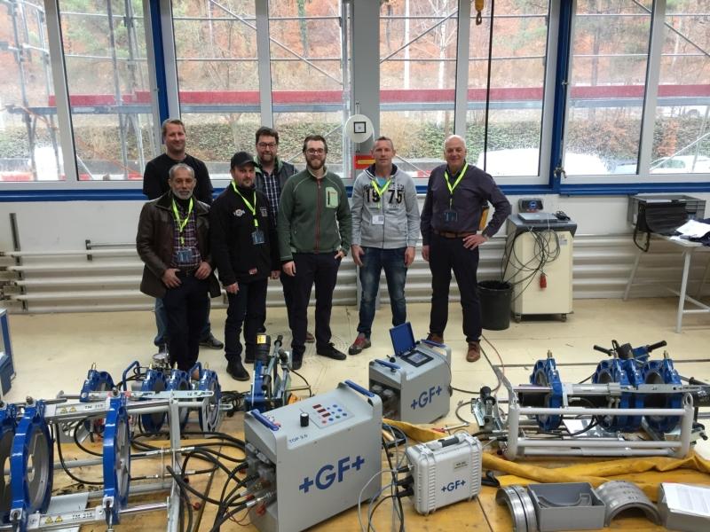 Geiger Netzbau GmbH setzt beim Leitungsbau auf Maschinen und Werkzeuge von GF Piping Systems