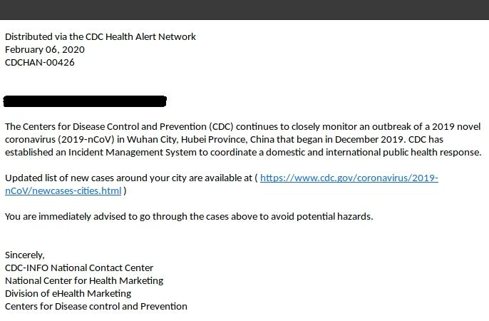 Coronavirus auch per E-Mail gefährlich