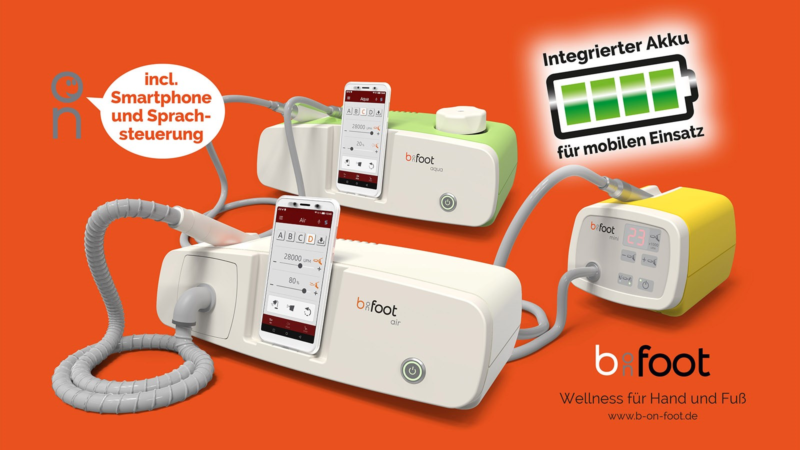 Kosmetikgeräte mit integriertem Akku: b-on-foot setzt neue Maßstäbe für mobile Pflegeeinsätze