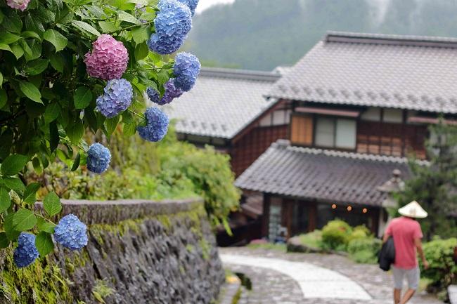 Japan-Kurort Gero-Onsen und Nakasendo Städte Magome und Tsumago auf der f.re.e Travel Expo