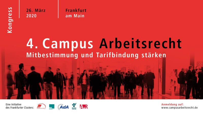 4. Campus Arbeitsrecht –  26. März 2020 in Frankfurt
