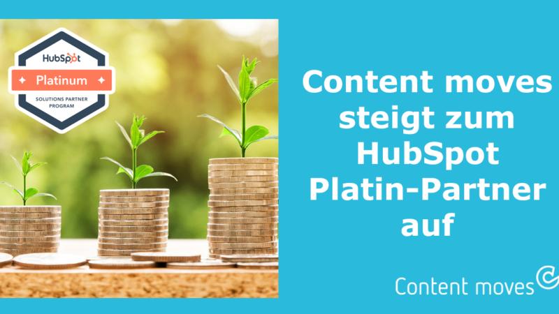 Content moves steigt zum HubSpot Platin-Partner auf