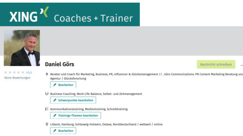 Daniel Görs Businesscoaching: Ihr erfahrener Coach und Berater für Marketing, Public Relations (PR) und Digitalisierung / Digital Business