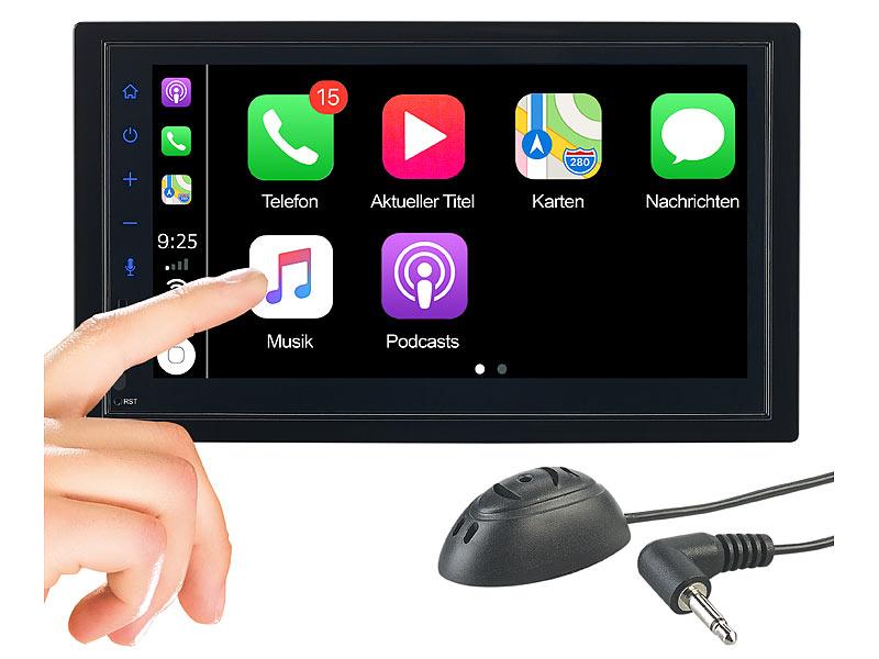 Creasono 2-DIN-Autoradio CAS-5025.acp mit Apple CarPlay