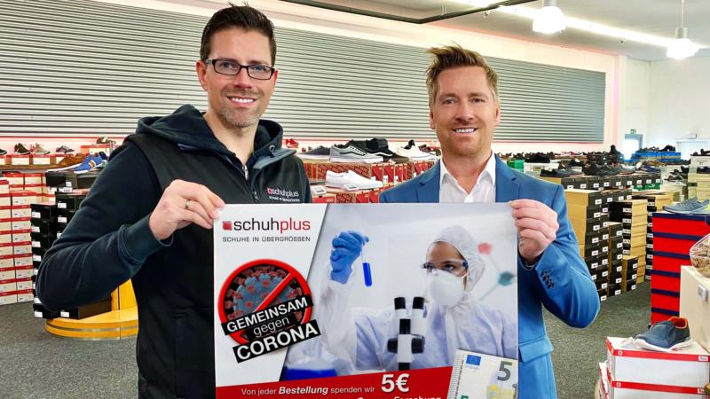 GEMEINSAM GEGEN CORONA – schuhplus startet Spendenaktion zur Förderung der Corona-Forschung am Robert-Koch-Institut