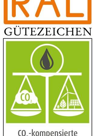 Gütezeichen für CO2-kompensierte Energieprodukte