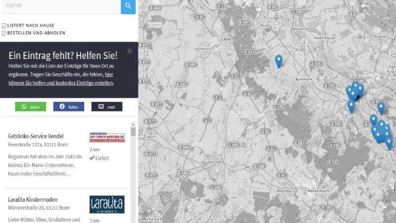 Bonner Internetagentur Papoomedia entwickelt kostenloses Portal werliefertnachhause.de