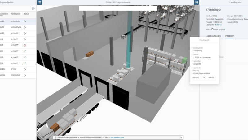 SWAN 3D-Logistics-Cockpit:  Usability in neuer Dimension