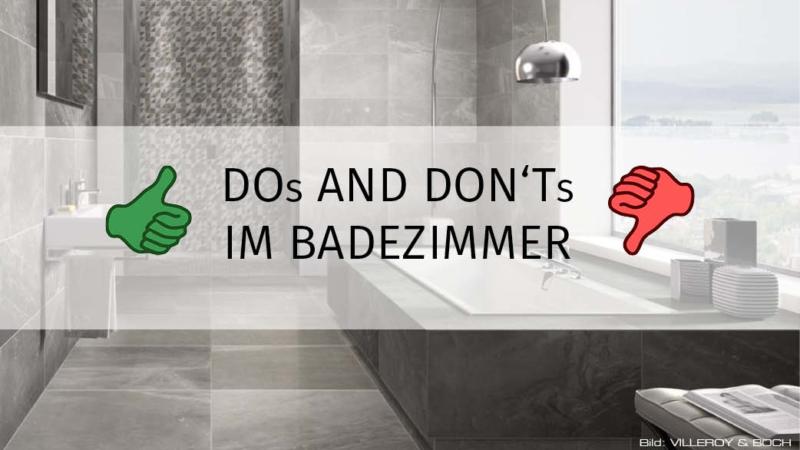 """Die DOs und DON""""Ts fürs Bad"""