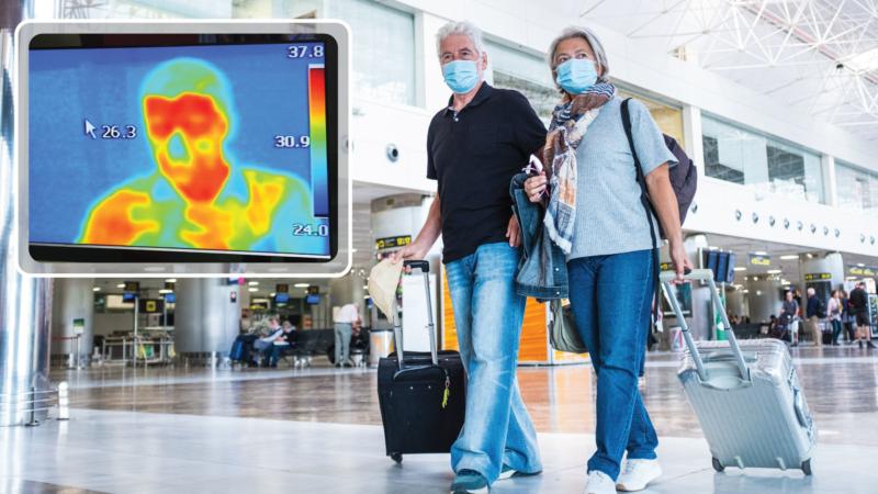 Kontrollierter Gebäude-Zugang per automatisierter Körpertemperatur-Kontrolle