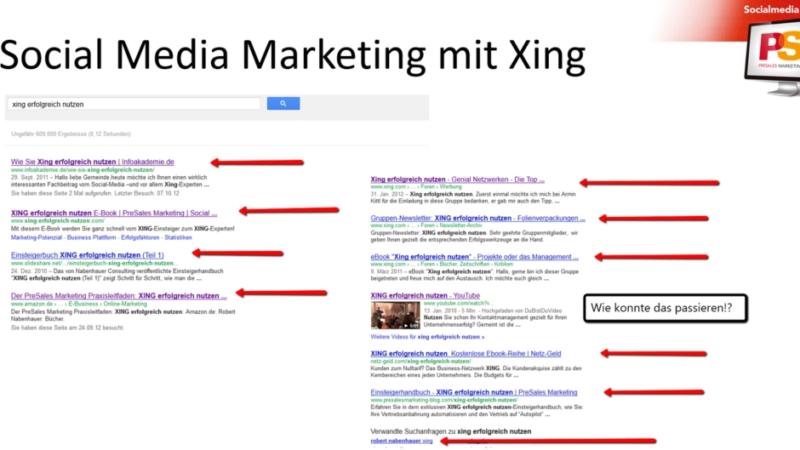 Vertrauenswürdige Plattform Xing im geschäftlichen Bereich: digitale Visitenkarte mit Nabenhauer Consulting
