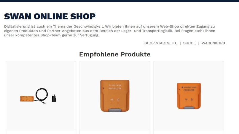 SWAN: Neuer Online Shop jetzt live!