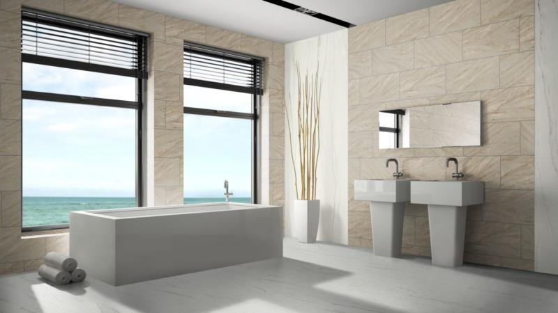 Flexible Sandsteinfliesen erobern Fassade und Innenräume