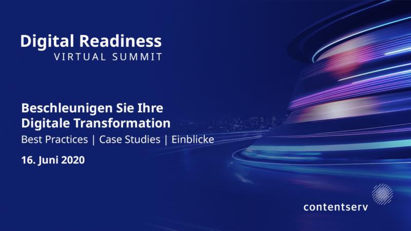Contentserv lädt ein zum 1. Digital Readiness Virtual Summit