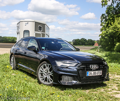Pferdeanhänger-Zugfahrzeugtest auf Mit-Pferden-reisen: Audi A6 Avant
