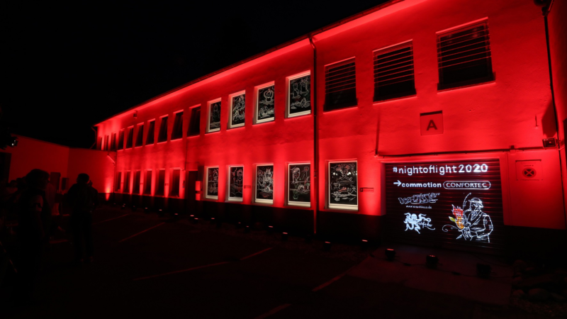 """commotion inszeniert Live Kunstwerk zur """"Night of Light"""""""