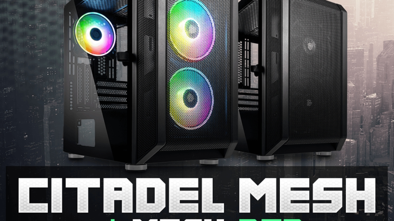 Neu: Kolink Citadel Mesh und Mesh RGB Mini-ITX-Gehäuse