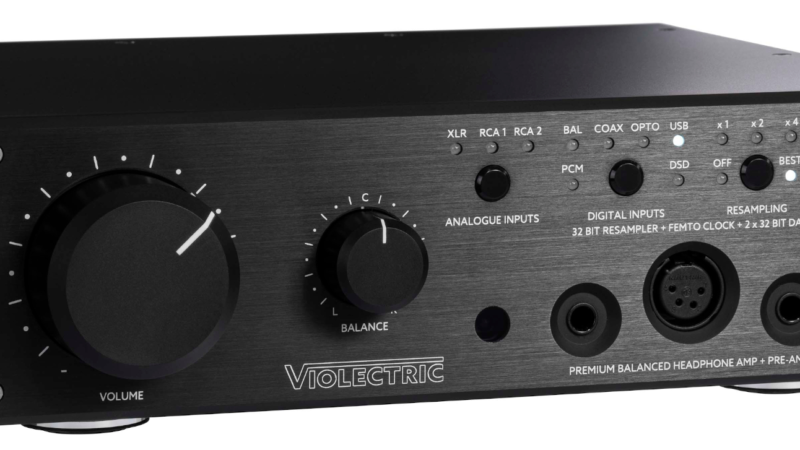 Violectric DHA V590: DA-Wandlung, 32-Bit-Resampling und Kopfhörer-Verstärkung in Referenzqualität