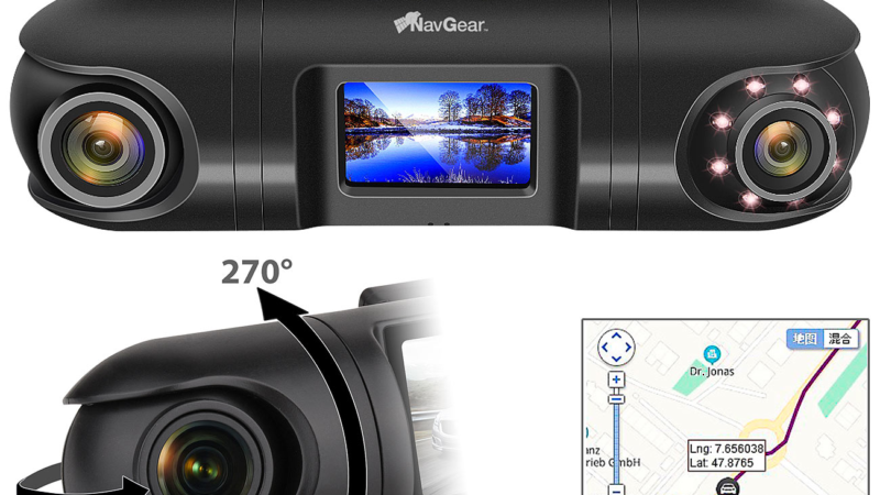 NavGear QHD-Dual-Dashcam MDV-5600.dual mit 2 Kameras