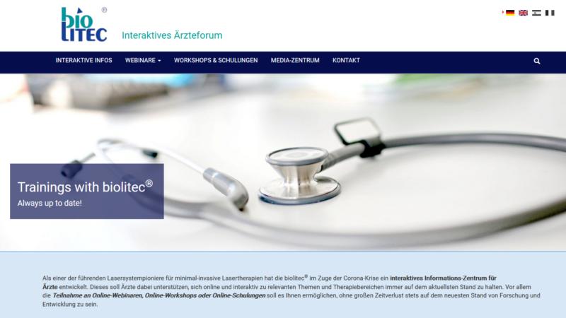biolitec: Informationsmodul zur digitalen Kommunikation mit Ärzten online – Neue Proktologen-APP jetzt downloaden