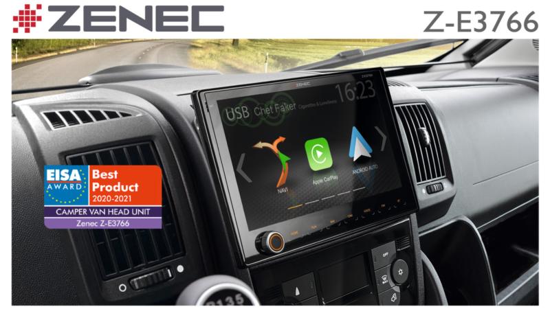 EISA Award 2020/21 for Zenec's Z-E3766 Motorhome Sat Nav