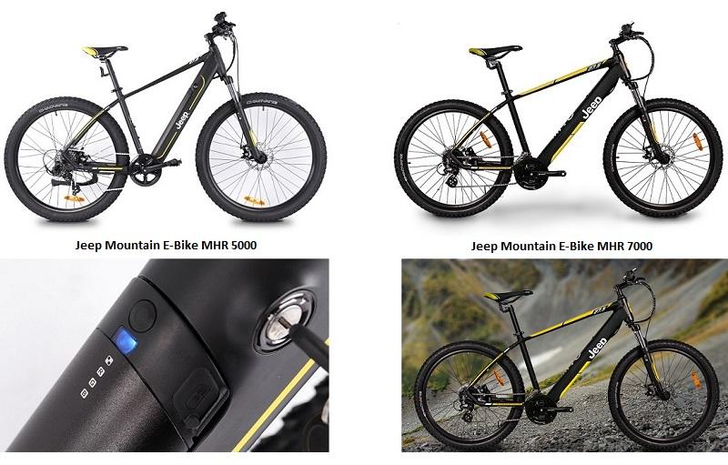 Erste Mountainbike-Modelle von Jeep E-Bikes sind da