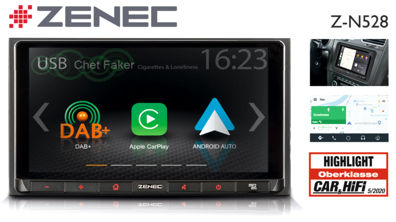 """Highlight"" accolade: ZENEC Car Infotainer Z-N528"