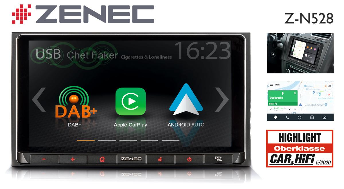 """Highlight"" accolade: ZENEC Car Infotainer Z-N528"