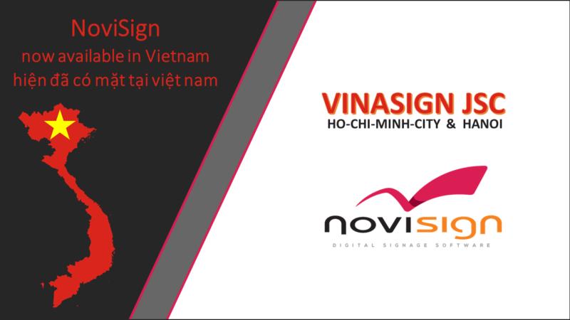 NOVISIGN DIGITAL SIGNAGE OPENS THE VIETNAM MARKET
