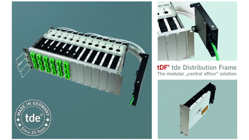 More space in the ODF: New tDF FO splice module with integrated loose tube over length management system