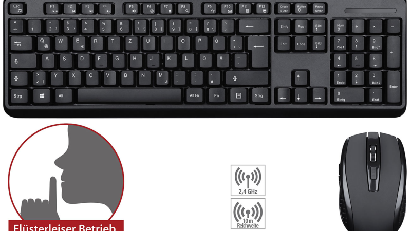 GeneralKeys leise Funk-Tastatur-Maus-Kombination