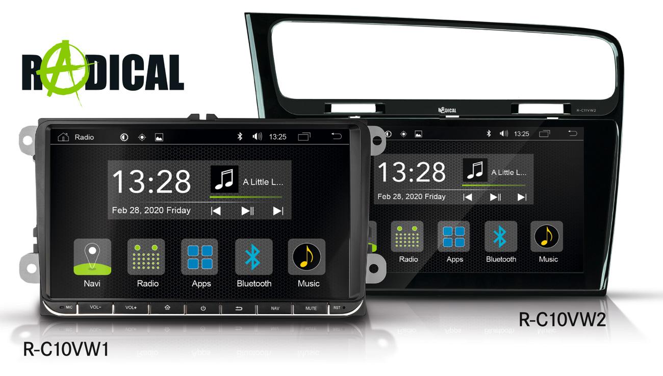 Neu von RADICAL: App Android Autoradios für VW, Seat, Skoda
