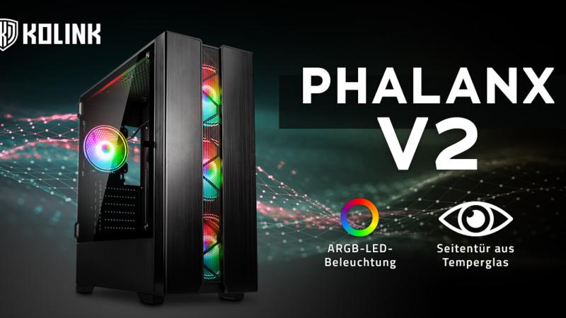 Kolink Phalanx V2 ARGB Midi-Tower jetzt vorbestellbar!