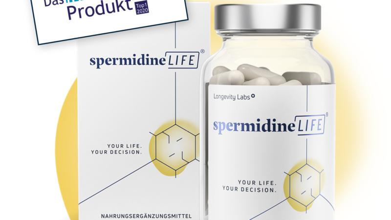"SpermidineLIFE ""innovativstes Produkt 2020"""