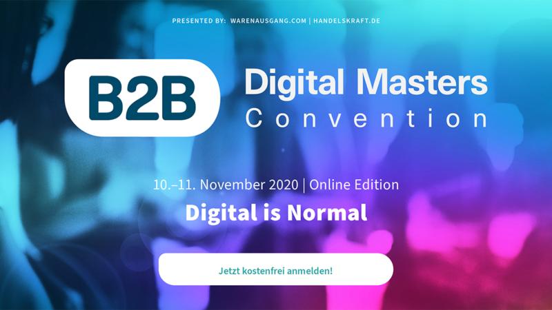 B2B Digital Masters Convention geht als Online-Edition in die zweite Runde