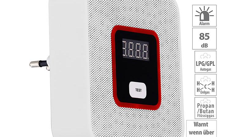 VisorTech Steckdosen-Multi-Gasmelder, 85 dB