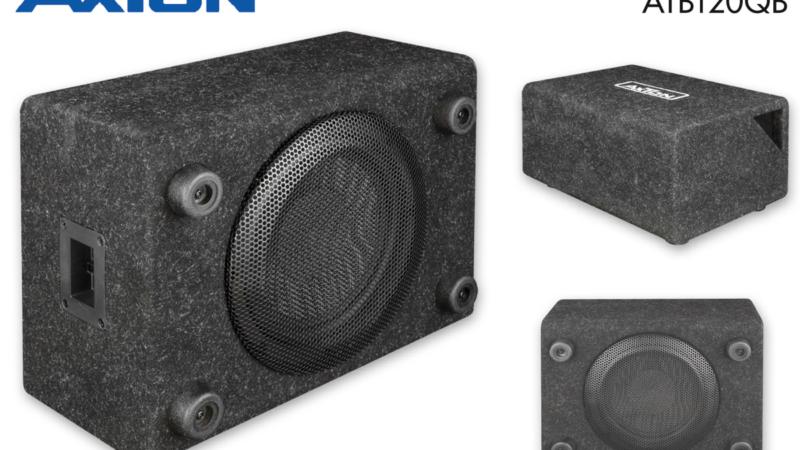 AXTON ATB120QB: Kompakte Bassbox für Autos und Reisemobile