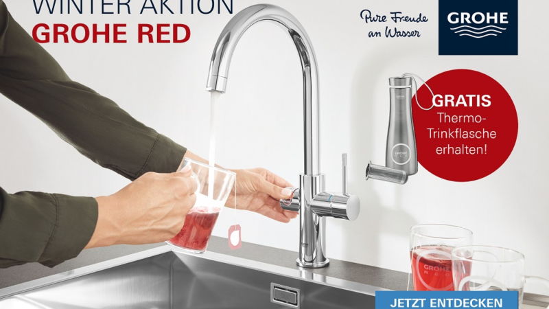 GROHE Red Thermoflasche – immer die richtige Temperatur