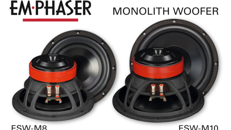 Bass-Upgrade im Auto: EMPHASERs Woofer ESW-M8 und ESW-M10