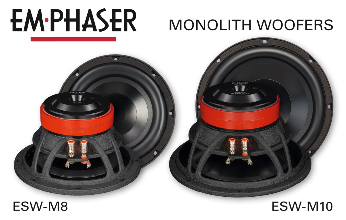 In-Car Bass Upgrade: EMPHASER Woofers ESW-M8 and ESW-M10
