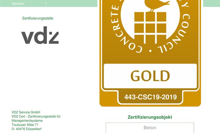 CSC-Zertifikat für nachhaltiges Wirtschaften