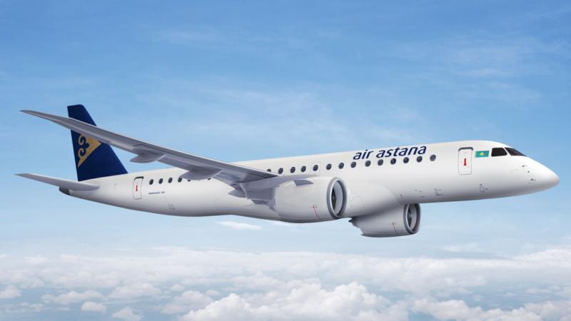 Air Astana führt Premium Economy Class an Bord der Embraer 190-E2 Flugzeuge ein
