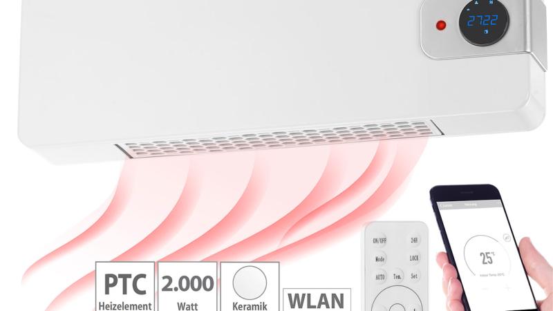 Sichler Haushaltsgeräte WLAN-Keramik-Wandheizlüfter