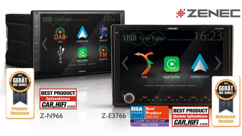 Geräte des Jahres – ZENECs Infotainer Z-E3766 und Z-N966