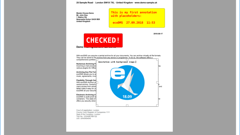 ecoDMS PDF Editor: Applying Custom Stamps and Comments to Archived PDFs